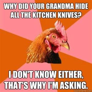 hide knives